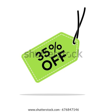 35 discount hang tag vector template stock vector royalty free