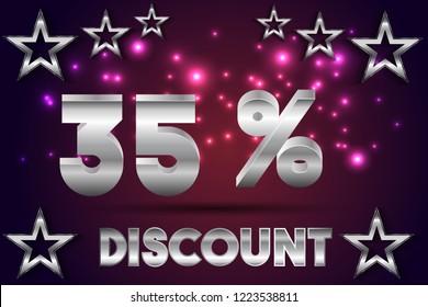 35% off discount promotion sale,  sale promo marketing.