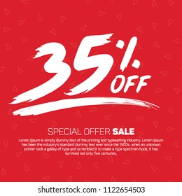 35 Percent off  Sale Special Offer Tag Banner Advertising Promotional Poster Design Vector Offers Mobile Fashion Electronics Home Appliances Books Jewelry