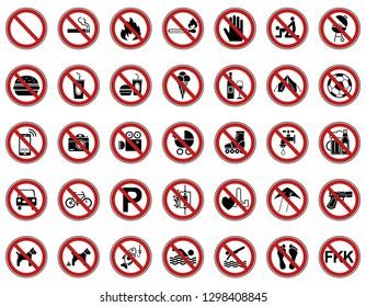 35 Prohibition & Warning Signs - Iconset (Icons)