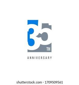 35 Th Anniversary Celebration Logo Vector Template Design Illustration