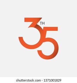 35 th Anniversary Vector Template Design Illustration