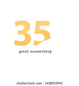 35 year anniversary vector, style  for celebration, logo template