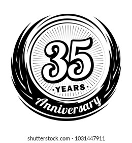 35 years anniversary. Anniversary logo design. 35 years logo.