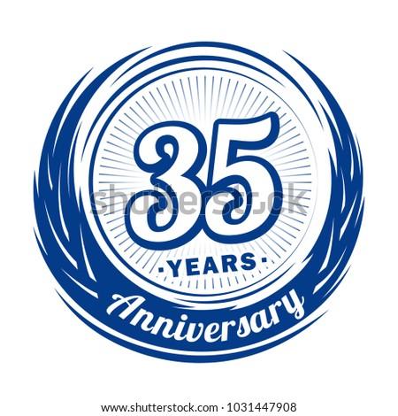 35 Years Anniversary Anniversary Logo Design Stock Vector Royalty