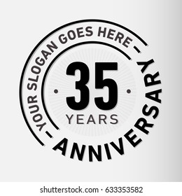 35 years anniversary logo template. Vector and illustration.