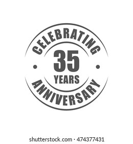 35 years celebrating anniversary logo