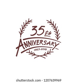 35 years design template. Vector and illustration. 35 years logo.