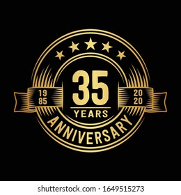 35 years logo design template. 35th anniversary vector and illustration.