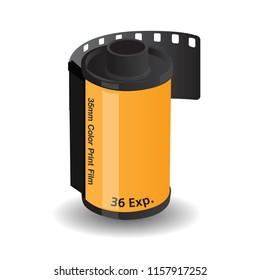 35mm Color  film roll vector