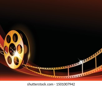 35mm roll movie negative background