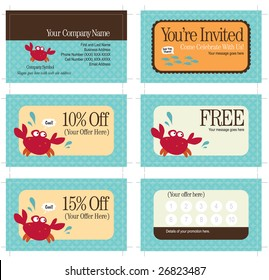 3.5x2 business card and promo cards (includes crop marks, key line, and bleed)