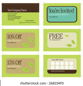 3.5x2 business card and promo cards (includes crop marks, key line and bleed)