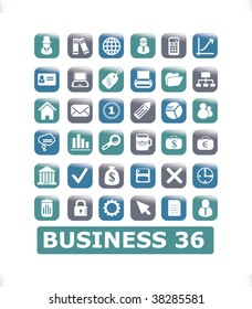 36 business buttons. vector