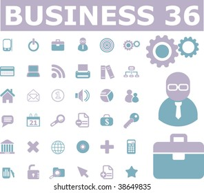 36 business signs. vector