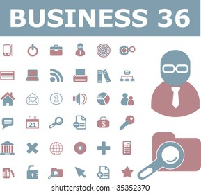 36 general business icons. vector
