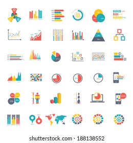 36 icons Infographics Data analysis on white background,vector