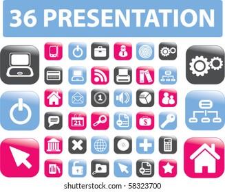 36 modern presentation signs. vector