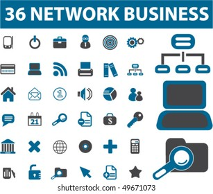 36 network business signs. vector