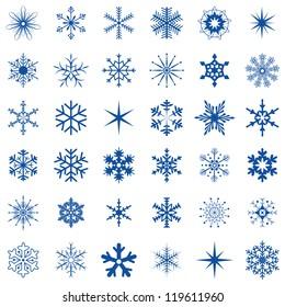 36 snowflakes
