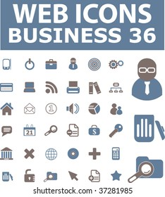36 web business icons. vector