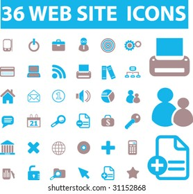 36 web site icons. vector