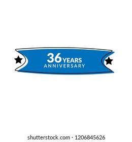 36 years anniversary celebration simple logo