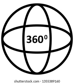 360 degree camera Isolated Vector icon which can easily modify or edit