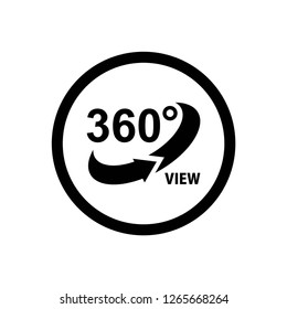 360 degree icon vector, on white background editable eps10