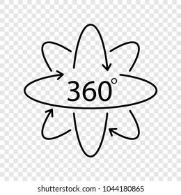360 Degree Vector icon