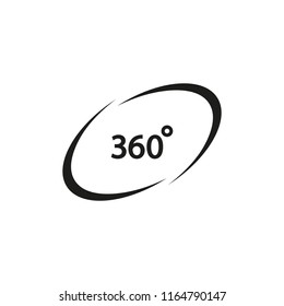 360 degree vector icon