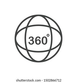 360 Degree View Related icon template color editable. 360 degrees view symbol vector sign isolated on white background illustration for graphic and web design.