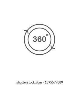 360 degree view vector icon isolated on white background