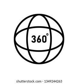 360 degrees angel sign. simple icon ful rotation.Geometry math on white background. EPS 10