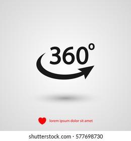 360 degrees icon