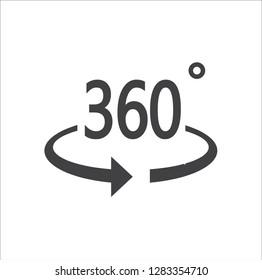 360 degrees icon - Vector illustration