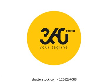 360 degrees logo design