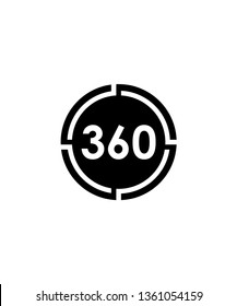 360 degrees logo design, vector