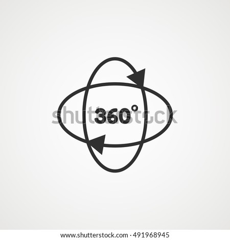 360 Degrees Symbol Stock Vector Royalty Free 491968945 Shutterstock