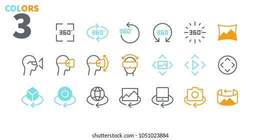 360 Degrees UI Pixel Perfect Well-crafted Vector Thin Line Icons 48x48 Ready for 24x24 Grid for Web Graphics and Apps. Simple Minimal Pictogram Part 2-2
