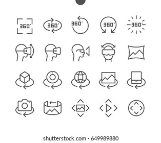 360 Degrees UI Pixel Perfect Well-crafted Vector Thin Line Icons 48x48 Ready for 24x24 Grid for Web Graphics and Apps with Editable Stroke. Simple Minimal Pictogram Part 2-2