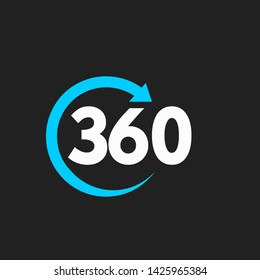 360 infinity logo icon design vector illustration
