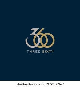 360 logo. Vector illustration