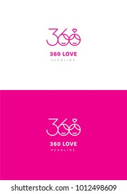 360 love logo template.