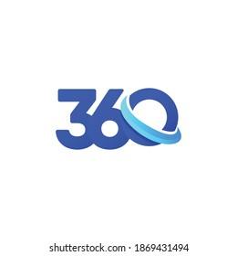 360 modern logo design concept.