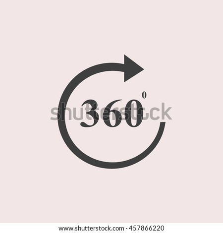 360 web icon. Isolated illustration