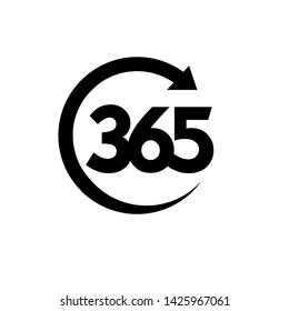 365 infinity logo icon design vector illustration