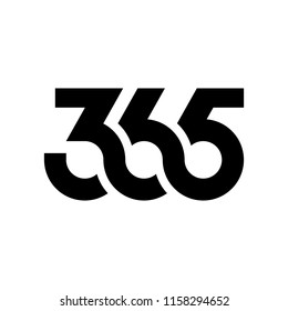 365 infinity logo icon vector number