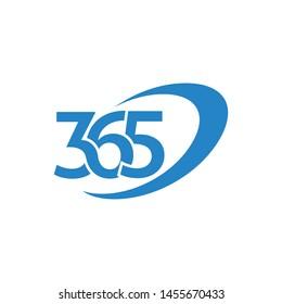 365 logo design vector illustration