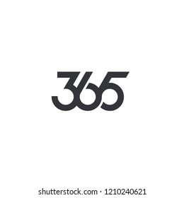 365 number letter logo  icon designs vector